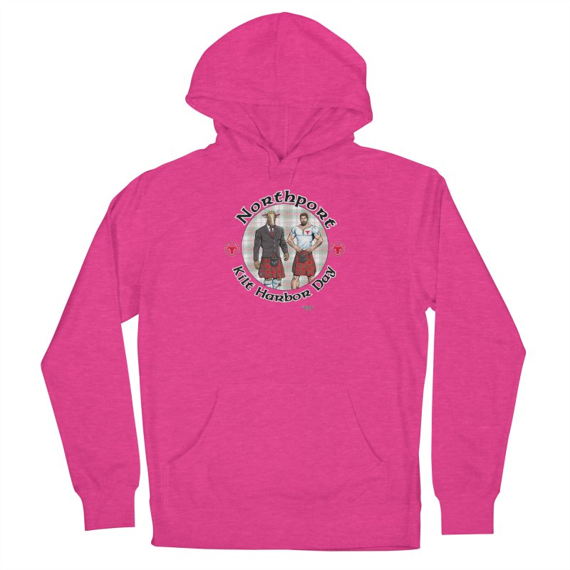 Northport - Kilt Harbor Day Men's French Terry Pullover Hoody by Kyle's Bed & Breakfast Fine Clothing & Gifts Shop