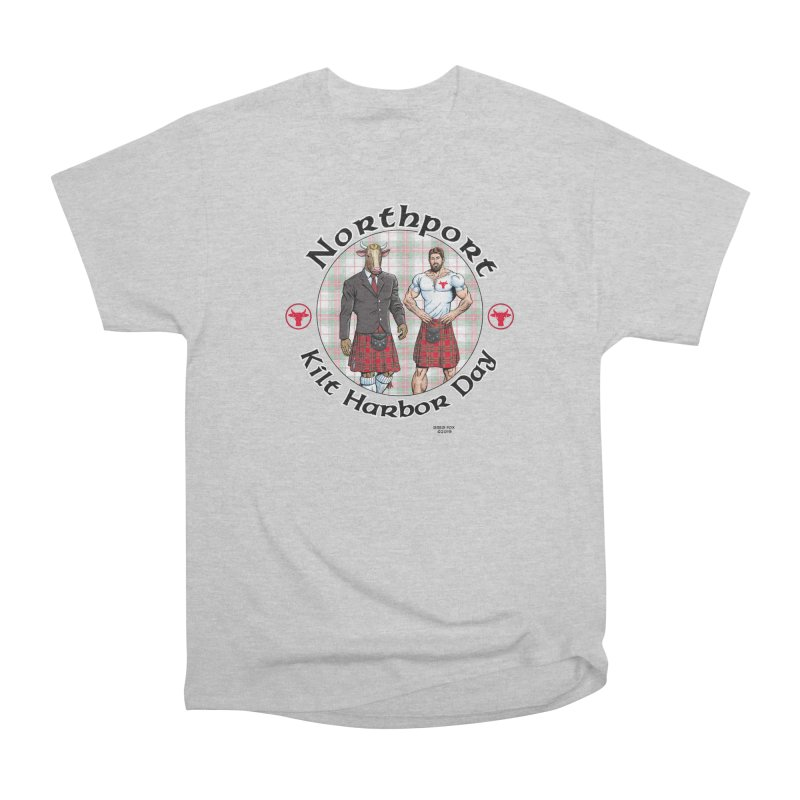 Northport - Kilt Harbor Day Men's Heavyweight T-Shirt by Kyle's Bed & Breakfast Fine Clothing & Gifts Shop
