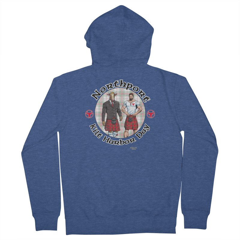 Northport - Kilt Harbor Day Men's French Terry Zip-Up Hoody by Kyle's Bed & Breakfast Fine Clothing & Gifts Shop