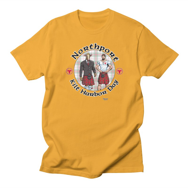 Northport - Kilt Harbor Day Men's Regular T-Shirt by Kyle's Bed & Breakfast Fine Clothing & Gifts Shop