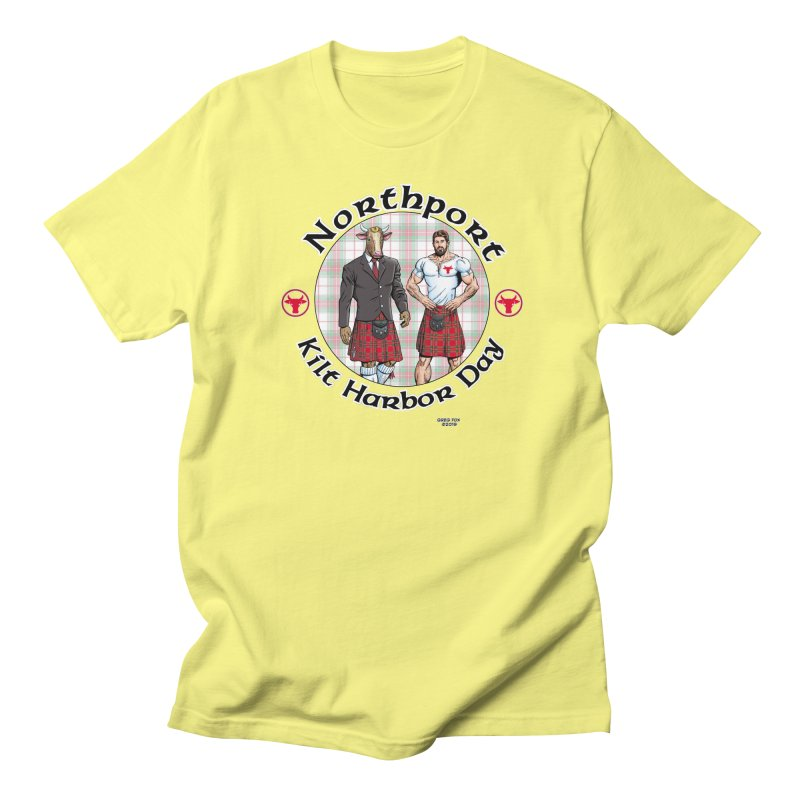 Northport - Kilt Harbor Day Women's Regular Unisex T-Shirt by Kyle's Bed & Breakfast Fine Clothing & Gifts Shop