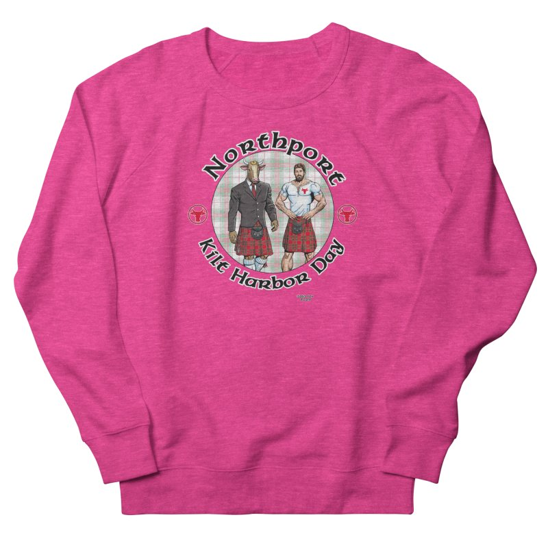 Northport - Kilt Harbor Day Men's French Terry Sweatshirt by Kyle's Bed & Breakfast Fine Clothing & Gifts Shop