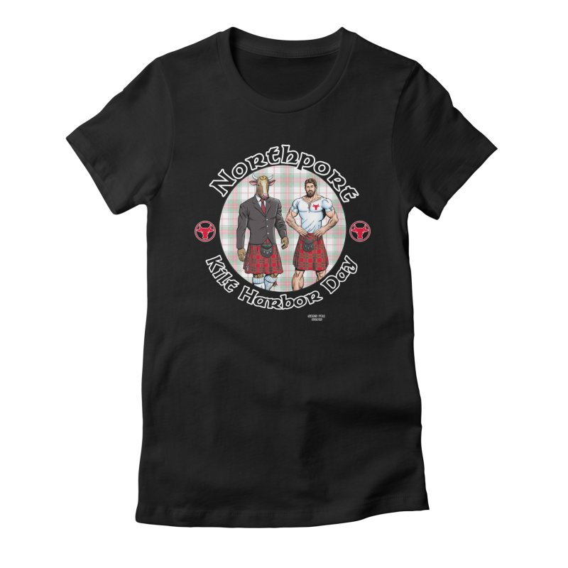 Northport - Kilt Harbor Day Women's Fitted T-Shirt by Kyle's Bed & Breakfast Fine Clothing & Gifts Shop