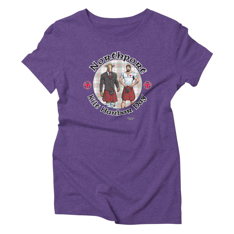 Northport - Kilt Harbor Day Women's Triblend T-Shirt by Kyle's Bed & Breakfast Fine Clothing & Gifts Shop