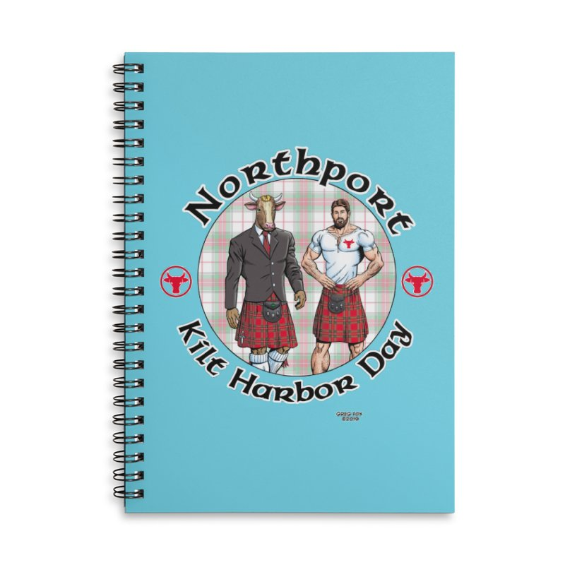 Northport - Kilt Harbor Day Accessories Lined Spiral Notebook by Kyle's Bed & Breakfast Fine Clothing & Gifts Shop