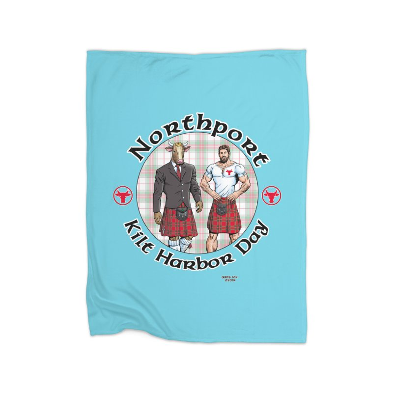 Northport - Kilt Harbor Day Home Fleece Blanket Blanket by Kyle's Bed & Breakfast Fine Clothing & Gifts Shop
