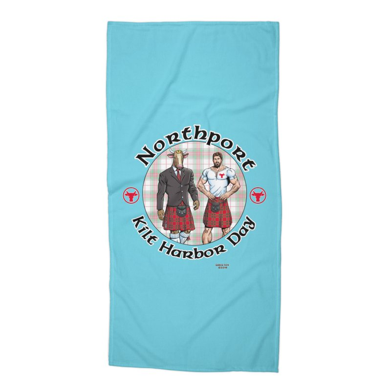 Northport - Kilt Harbor Day Accessories Beach Towel by Kyle's Bed & Breakfast Fine Clothing & Gifts Shop