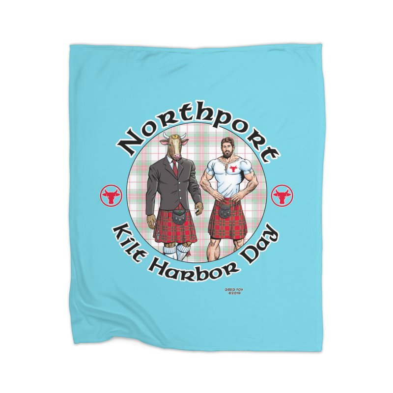 Northport - Kilt Harbor Day Home Blanket by Kyle's Bed & Breakfast Fine Clothing & Gifts Shop