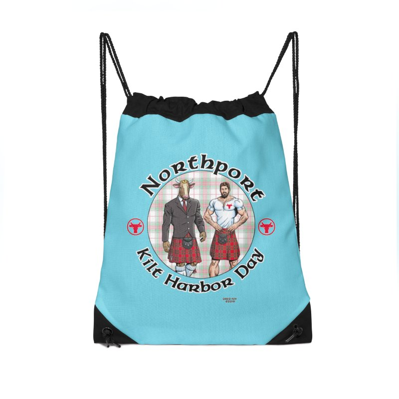 Northport - Kilt Harbor Day Accessories Drawstring Bag Bag by Kyle's Bed & Breakfast Fine Clothing & Gifts Shop