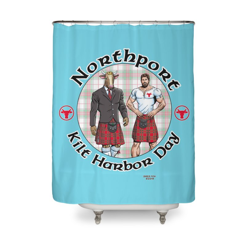 Northport - Kilt Harbor Day Home Shower Curtain by Kyle's Bed & Breakfast Fine Clothing & Gifts Shop
