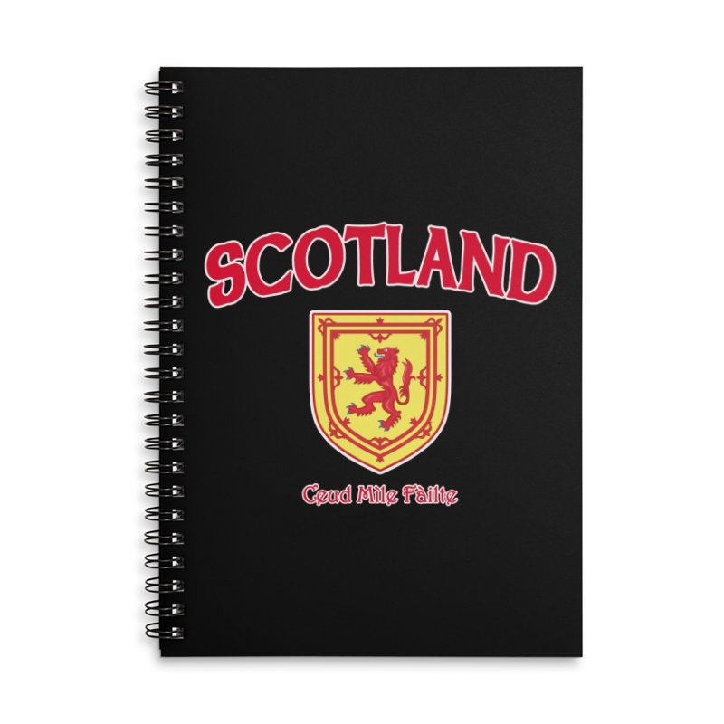 Scotland - Ceud Mìle Fàilte Accessories Lined Spiral Notebook by Kyle's Bed & Breakfast Fine Clothing & Gifts Shop