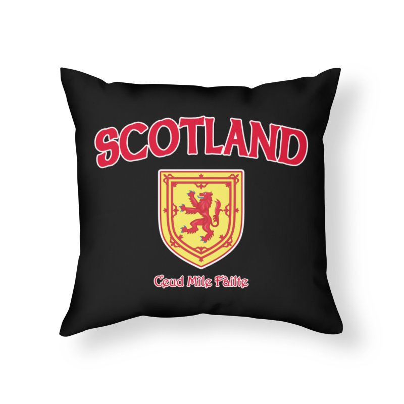 Scotland - Ceud Mìle Fàilte Home Throw Pillow by Kyle's Bed & Breakfast Fine Clothing & Gifts Shop