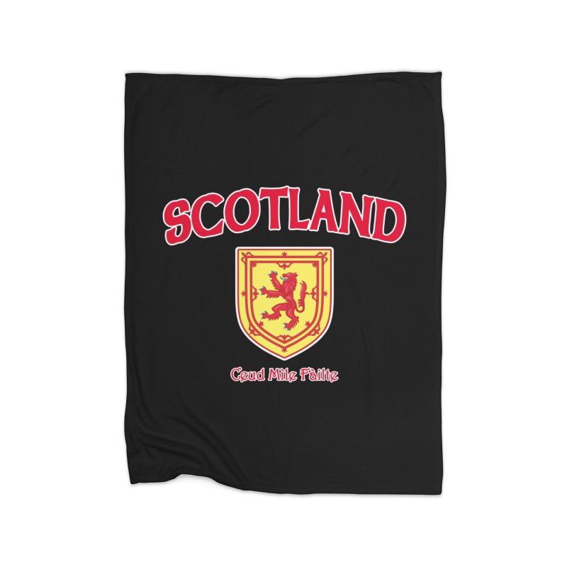Scotland - Ceud Mìle Fàilte Home Fleece Blanket Blanket by Kyle's Bed & Breakfast Fine Clothing & Gifts Shop