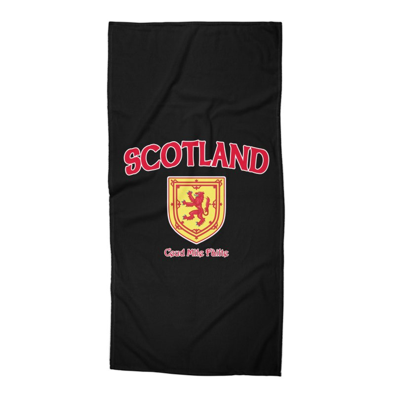 Scotland - Ceud Mìle Fàilte Accessories Beach Towel by Kyle's Bed & Breakfast Fine Clothing & Gifts Shop