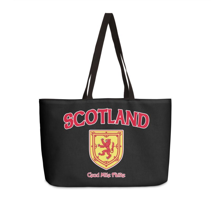 Scotland - Ceud Mìle Fàilte Accessories Weekender Bag Bag by Kyle's Bed & Breakfast Fine Clothing & Gifts Shop
