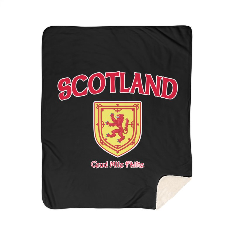 Scotland - Ceud Mìle Fàilte Home Sherpa Blanket Blanket by Kyle's Bed & Breakfast Fine Clothing & Gifts Shop
