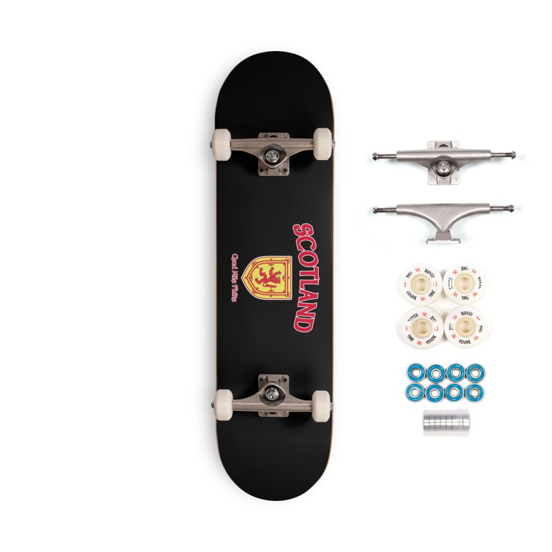 Scotland - Ceud Mìle Fàilte Accessories Complete - Premium Skateboard by Kyle's Bed & Breakfast Fine Clothing & Gifts Shop