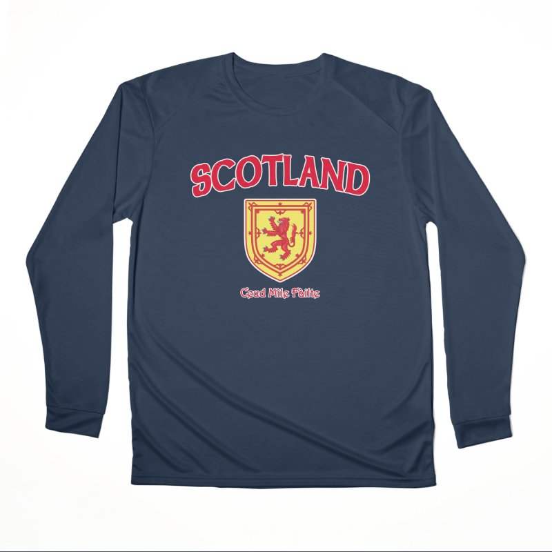 Scotland - Ceud Mìle Fàilte Men's Performance Longsleeve T-Shirt by Kyle's Bed & Breakfast Fine Clothing & Gifts Shop