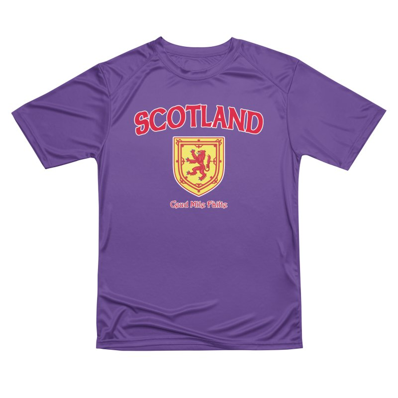 Scotland - Ceud Mìle Fàilte Men's Performance T-Shirt by Kyle's Bed & Breakfast Fine Clothing & Gifts Shop