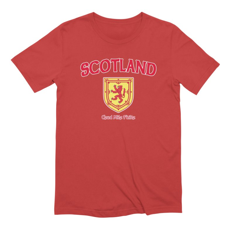 Scotland - Ceud Mìle Fàilte Men's Extra Soft T-Shirt by Kyle's Bed & Breakfast Fine Clothing & Gifts Shop