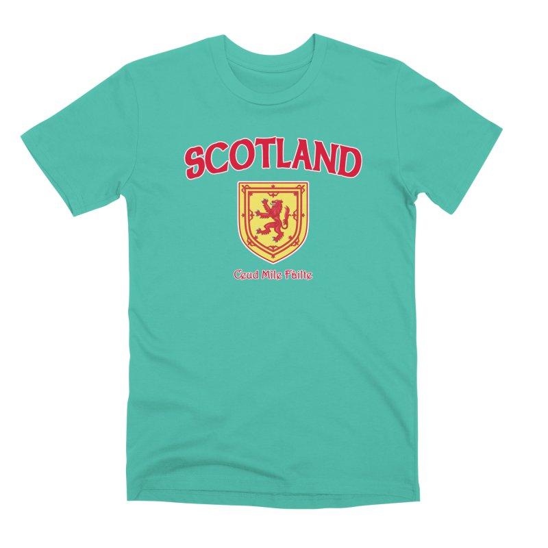 Scotland - Ceud Mìle Fàilte Men's Premium T-Shirt by Kyle's Bed & Breakfast Fine Clothing & Gifts Shop