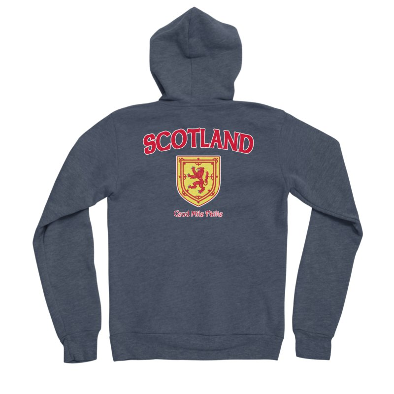 Scotland - Ceud Mìle Fàilte Men's Zip-Up Hoody by Kyle's Bed & Breakfast Fine Clothing & Gifts Shop