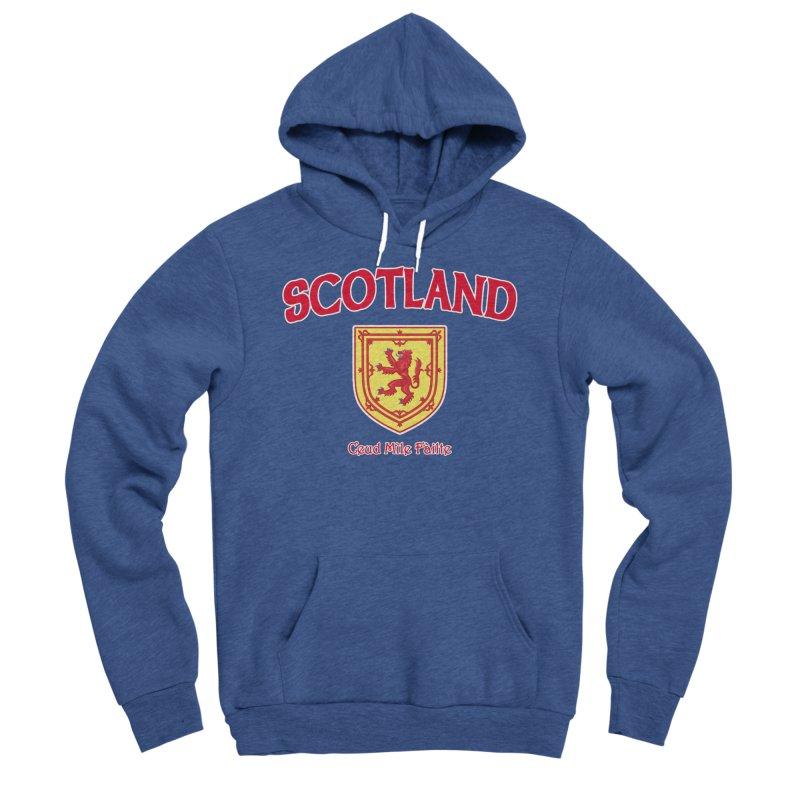 Scotland - Ceud Mìle Fàilte Men's Sponge Fleece Pullover Hoody by Kyle's Bed & Breakfast Fine Clothing & Gifts Shop