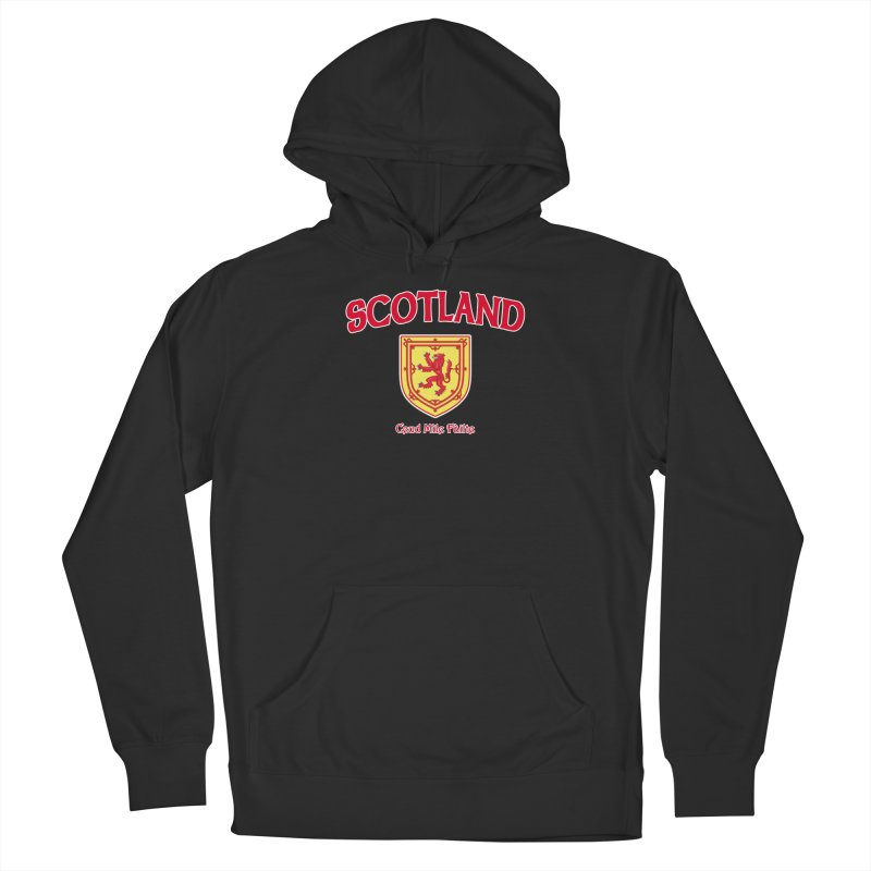Scotland - Ceud Mìle Fàilte Men's French Terry Pullover Hoody by Kyle's Bed & Breakfast Fine Clothing & Gifts Shop