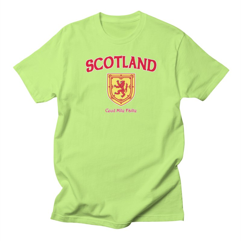 Scotland - Ceud Mìle Fàilte Men's Regular T-Shirt by Kyle's Bed & Breakfast Fine Clothing & Gifts Shop