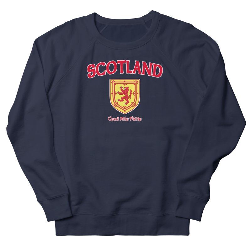 Scotland - Ceud Mìle Fàilte Men's French Terry Sweatshirt by Kyle's Bed & Breakfast Fine Clothing & Gifts Shop