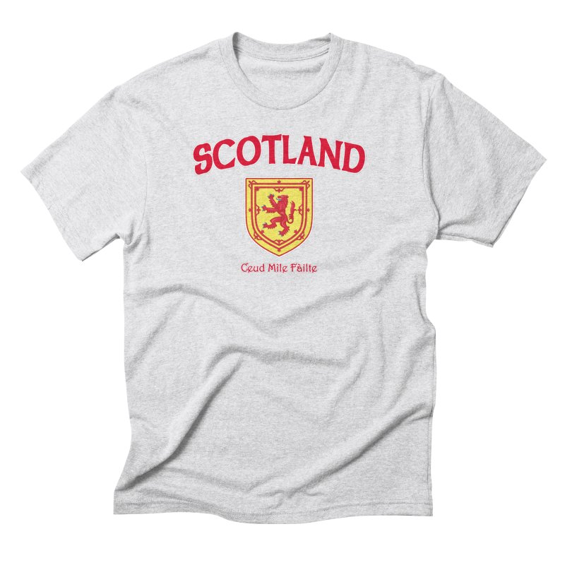 Scotland - Ceud Mìle Fàilte Men's Triblend T-Shirt by Kyle's Bed & Breakfast Fine Clothing & Gifts Shop
