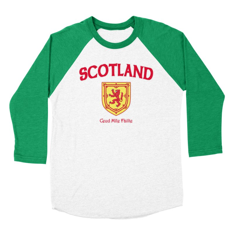 Scotland - Ceud Mìle Fàilte Men's Baseball Triblend Longsleeve T-Shirt by Kyle's Bed & Breakfast Fine Clothing & Gifts Shop
