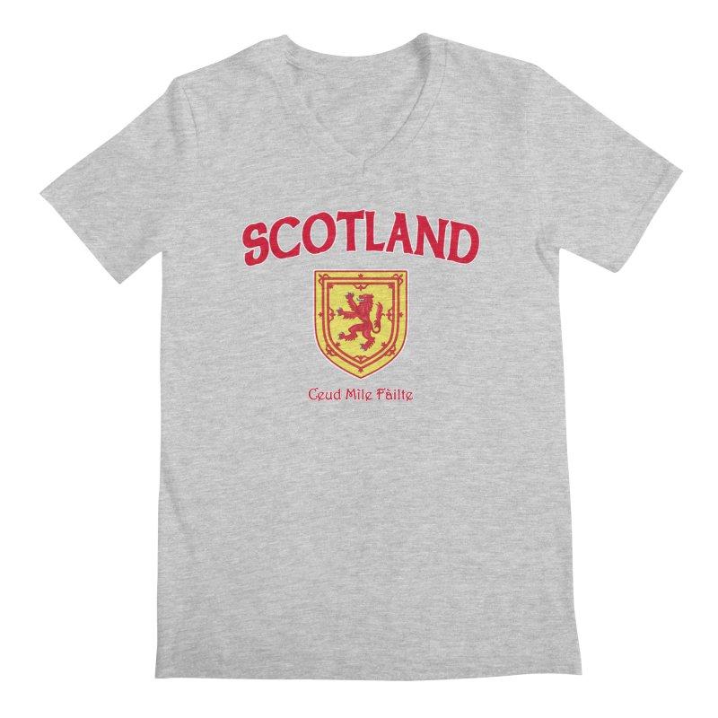 Scotland - Ceud Mìle Fàilte Men's Regular V-Neck by Kyle's Bed & Breakfast Fine Clothing & Gifts Shop