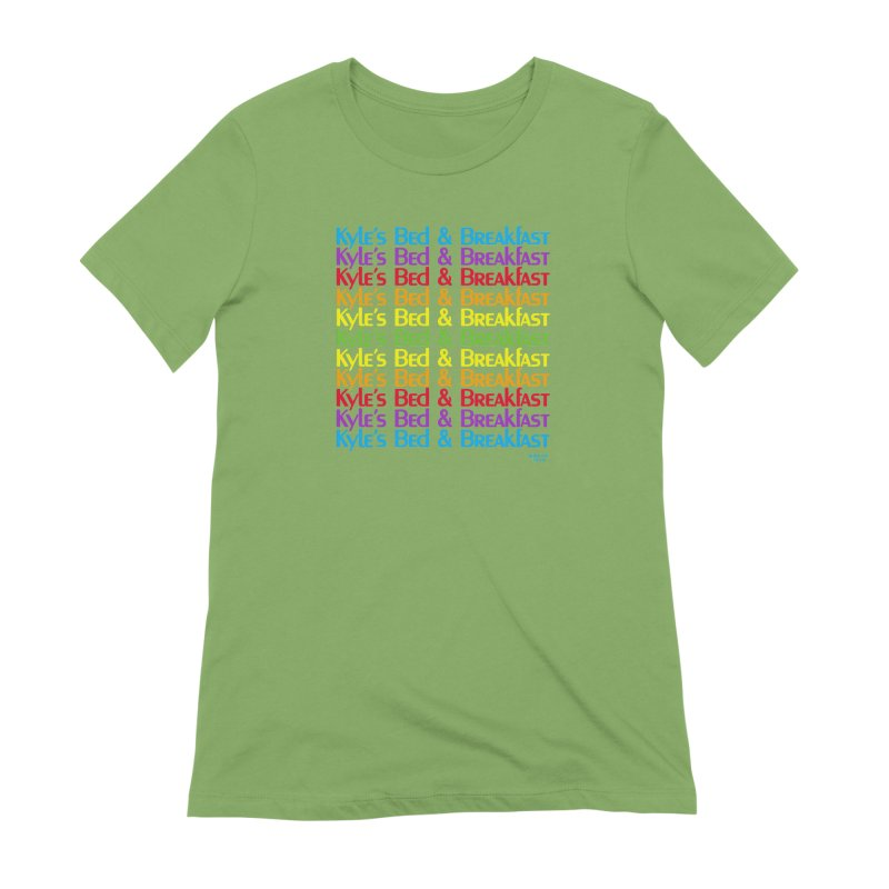 Kyle's B&B -  Love is All Around Women's Extra Soft T-Shirt by Kyle's Bed & Breakfast Fine Clothing & Gifts Shop