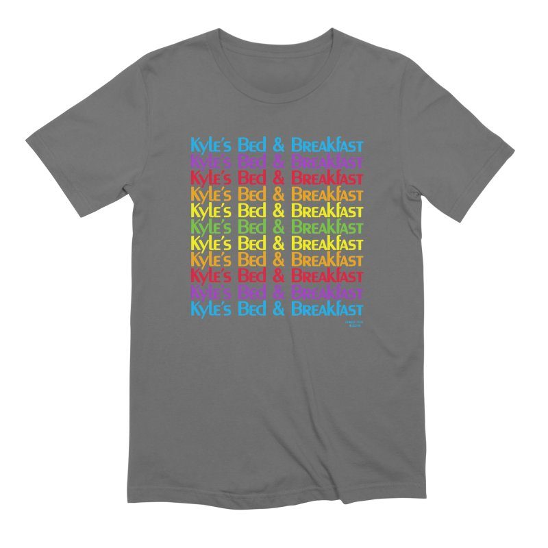 Kyle's B&B -  Love is All Around Men's Extra Soft T-Shirt by Kyle's Bed & Breakfast Fine Clothing & Gifts Shop