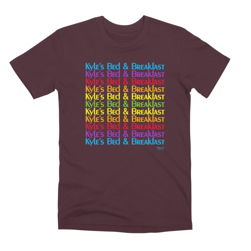 Kyle's B&B -  Love is All Around Men's Premium T-Shirt by Kyle's Bed & Breakfast Fine Clothing & Gifts Shop