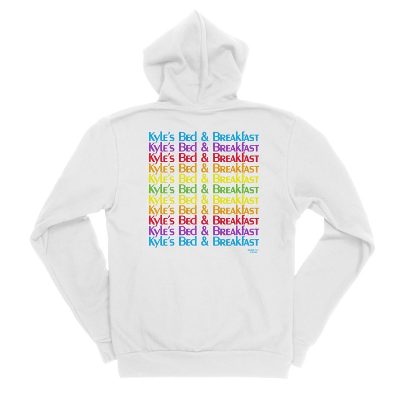 Kyle's B&B -  Love is All Around Men's Zip-Up Hoody by Kyle's Bed & Breakfast Fine Clothing & Gifts Shop