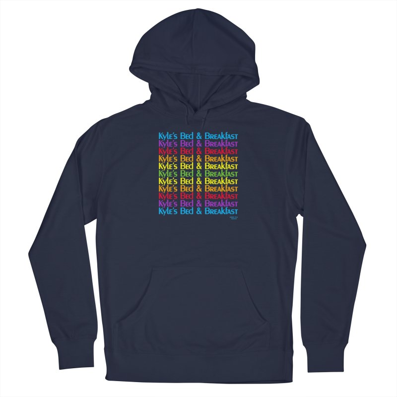 Kyle's B&B -  Love is All Around Men's French Terry Pullover Hoody by Kyle's Bed & Breakfast Fine Clothing & Gifts Shop