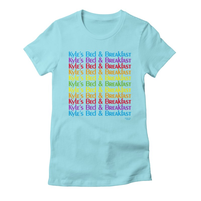 Kyle's B&B -  Love is All Around Women's Fitted T-Shirt by Kyle's Bed & Breakfast Fine Clothing & Gifts Shop