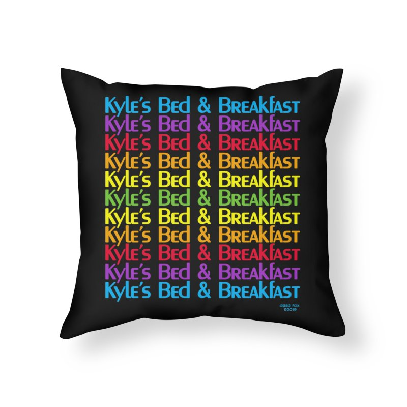 Kyle's B&B -  Love is All Around Home Throw Pillow by Kyle's Bed & Breakfast Fine Clothing & Gifts Shop