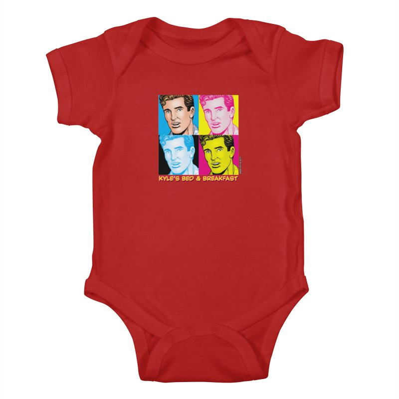 Pop Art Kyle Kids Baby Bodysuit by Kyle's Bed & Breakfast Fine Clothing & Gifts Shop