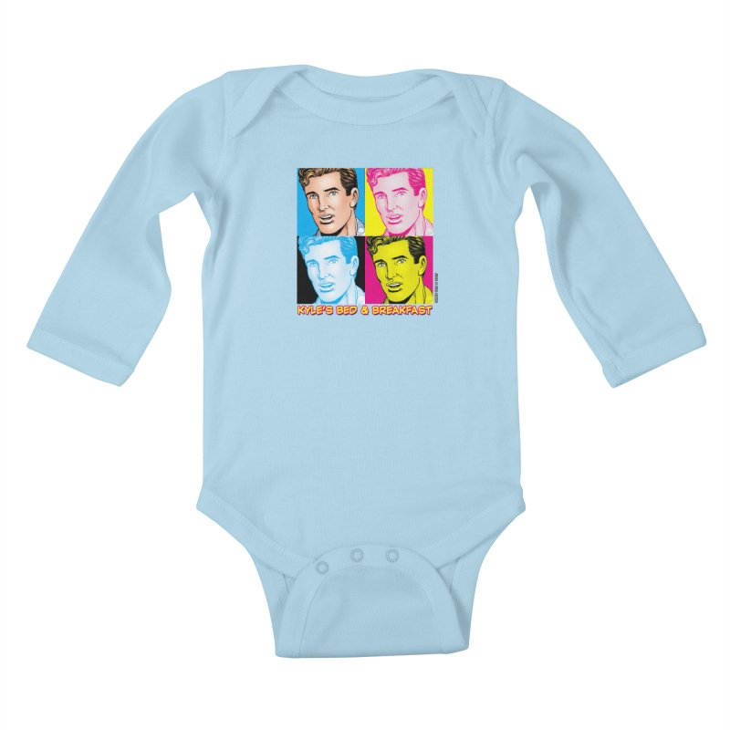 Pop Art Kyle Kids Baby Longsleeve Bodysuit by Kyle's Bed & Breakfast Fine Clothing & Gifts Shop