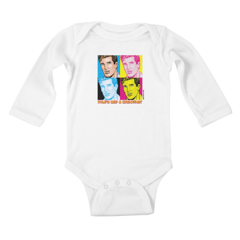 Pop Art Kyle Kids Baby Longsleeve Bodysuit by Kyle's Bed & Breakfast Fine Clothing & Gifts Shop