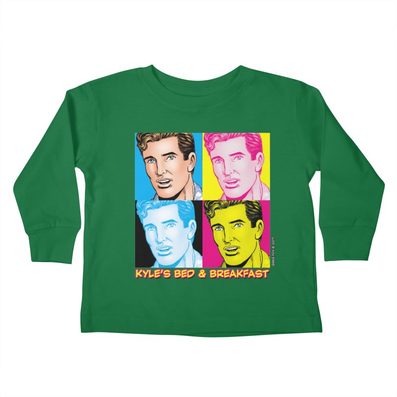 Pop Art Kyle Kids Toddler Longsleeve T-Shirt by Kyle's Bed & Breakfast Fine Clothing & Gifts Shop