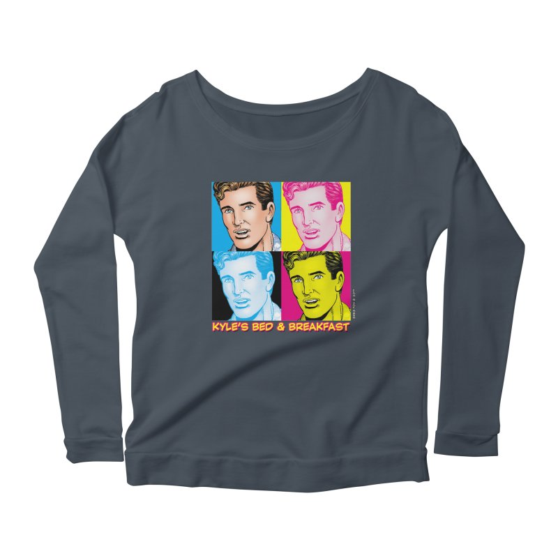 Pop Art Kyle Women's Scoop Neck Longsleeve T-Shirt by Kyle's Bed & Breakfast Fine Clothing & Gifts Shop