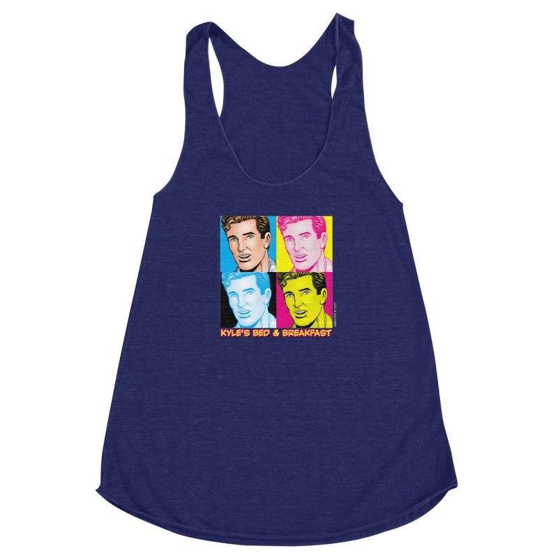 Pop Art Kyle Women's Racerback Triblend Tank by Kyle's Bed & Breakfast Fine Clothing & Gifts Shop