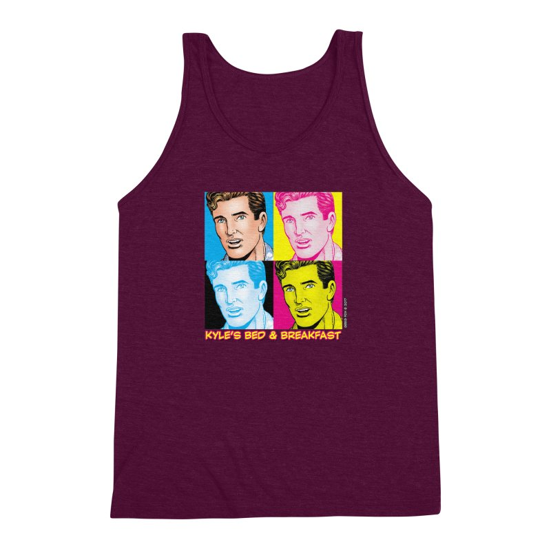 Pop Art Kyle Men's Triblend Tank by Kyle's Bed & Breakfast Fine Clothing & Gifts Shop