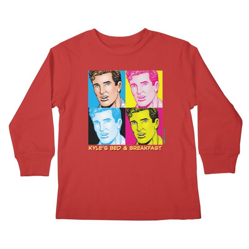 Pop Art Kyle Kids Longsleeve T-Shirt by Kyle's Bed & Breakfast Fine Clothing & Gifts Shop