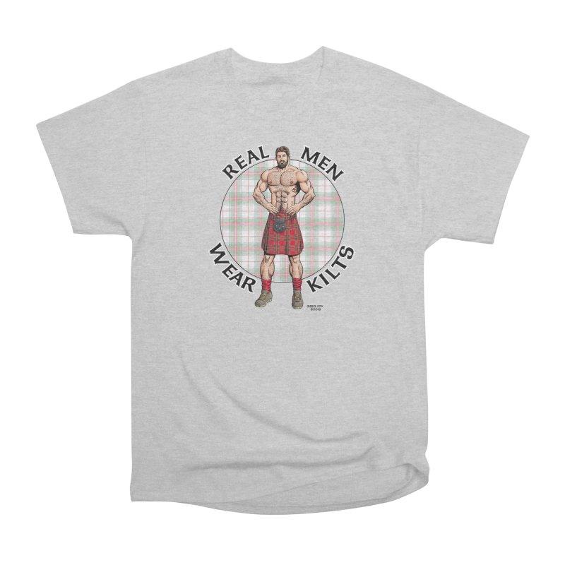 Real Men Wear Kilts Men's T-Shirt by Kyle's Bed & Breakfast Fine Clothing & Gifts Shop