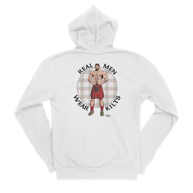 Real Men Wear Kilts Men's Sponge Fleece Zip-Up Hoody by Kyle's Bed & Breakfast Fine Clothing & Gifts Shop